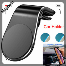 Magnetic Car Phone Stand Holder Aluminium Vent Mobile for In