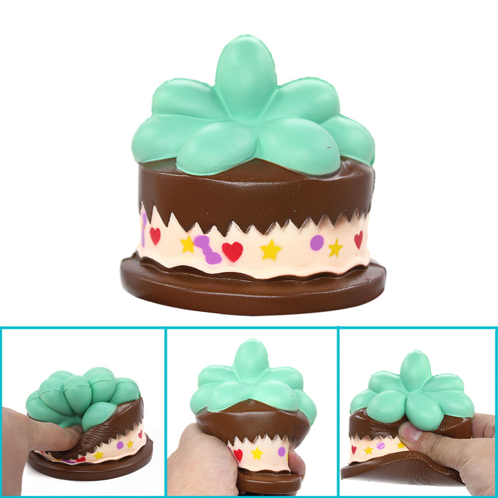 Jumbo Cute Leaf Cake Bread Kid Toys Squishy Squeeze Toy Slow Rising Relieves Stress Anxiety Attention To Adult L1219