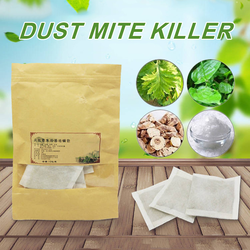 10Pcs/Pack Dust Mites Killer Natural Mite Eliminator For Bed Pillow Sheet Couch Cleaner Pet Dog Dust Home