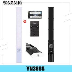 Image 1 - Ручной светодиодный светильник YONGNUO YN360S со льдом, 3200K 5500K, лампа для студийной фотосъемки с управлением через приложение для телефона, освещение для фотосъемки 360 S