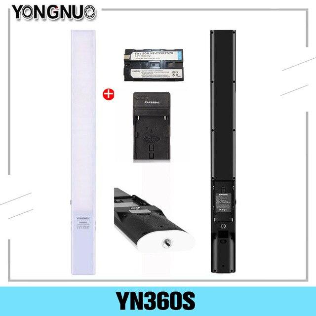 Ручной светодиодный светильник YONGNUO YN360S со льдом, 3200K 5500K, лампа для студийной фотосъемки с управлением через приложение для телефона, освещение для фотосъемки 360 S
