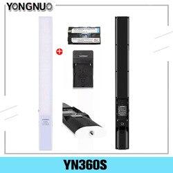 Ручной светодиодный светильник YONGNUO YN360S со льдом, 3200K-5500K, лампа для студийной фотосъемки с управлением через приложение для телефона, освеще...