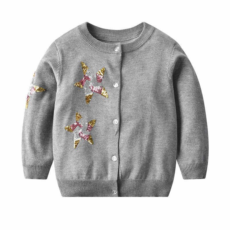 Rlyaeiz 2019 봄 아기 소녀 스웨터 니트 패션 달콤한 가을 긴 소매 니트 아기 소녀 카디 건 소녀 옷 2-9y