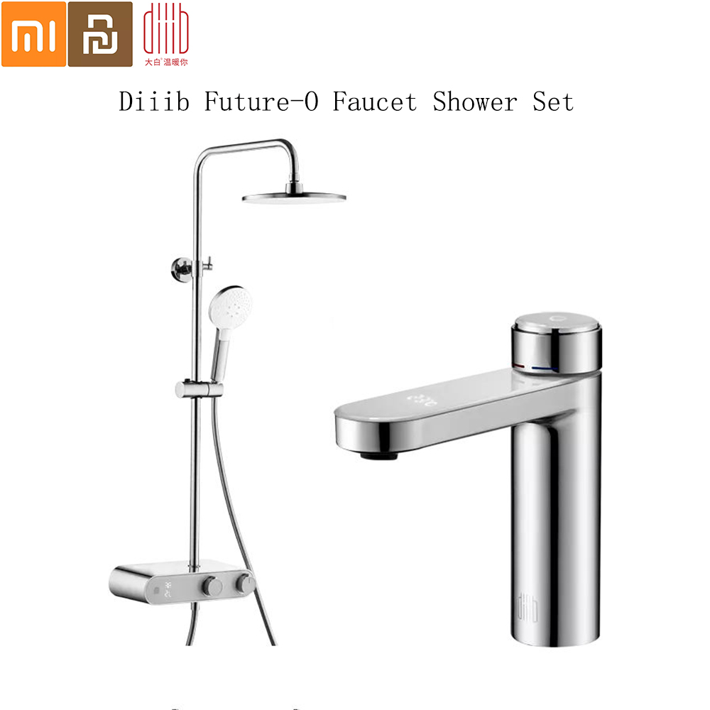 Diiib Future-O Faucet Shower Set Hydropower LED display faucet fashion high-value shower head set From Xiaomi Youpin Dabai