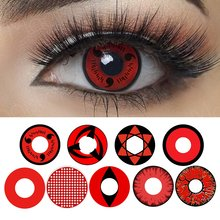Magister Sharingan Halloween Contacten Jaarlijks Rode Cosplay Gekleurde Contactlenzen Cosplay Eye Lenzen(China)