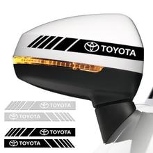 Автомобильные аксессуары 2 шт. наклейка на зеркало заднего вида светоотражающие украшение Наклейки для Toyota Prius auris hilux camry RAV4 автомобильный С...