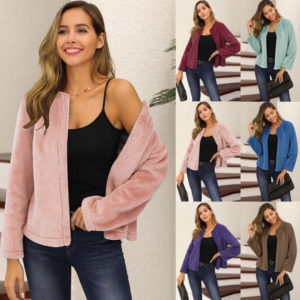 Fashion Women's Jacket Top Winter Warm Outwear Ladies Coat Overcoat Outercoat Female oversize Plus size Chaqueta de mujer#G2