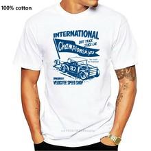 Quality Shirts New Style Mens Premium T-Shirt Dirt Track Stock Car Hot Rat Rod Old Skool 100% Cotton Top Tees