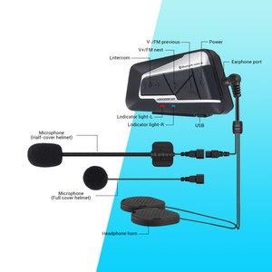Image 5 - HEROBIKER 2 Sets 1200M BT Motorcycle Helmet Intercom Waterproof Wireless Bluetooth Moto Headset Interphone FM Radio for 2 Rides