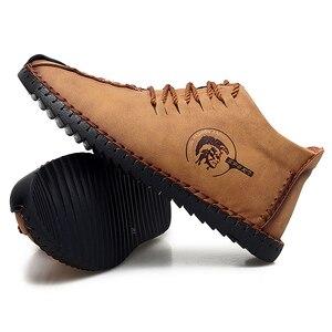 Image 2 - 38 47 נעליים יומיומיות גברים מותג נוח 2019 אופנה נעלי גברים עור #6016