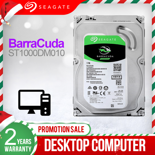 "Seagate 1TB 3.5"" Desktop HDD Internal Hard Disk Drive 7200 RPM SATA 6Gb/s 64MB Cache HDD Drive Disk For Computer ST1000DM010"