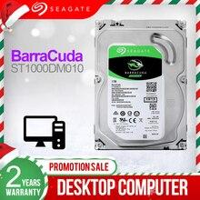 """Seagate 1TB 3.5 """"Desktop HDD Interno Hard Disk Drive 7200 RPM SATA 6 Gb/s 64MB di Cache HDD azionamento di Disco Rigido Per Computer ST1000DM010"""