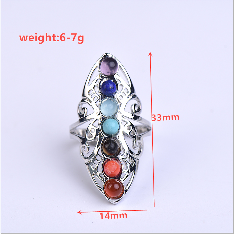 Natural Quartz  gems ring stones and crystals rose quartz ametht party 1pcFashion jewyselry DIY gift couple jewelry-5