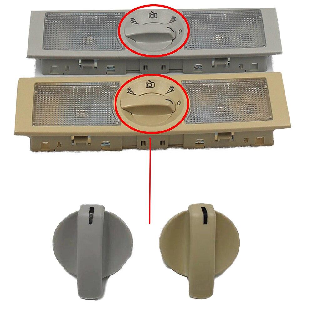 Interruptor de perilla de luz de lectura trasera para coche, accesorio para VW POLO Passat Skoda 6Q0 947 291 A 18D947291A, color gris y Beige, nuevo