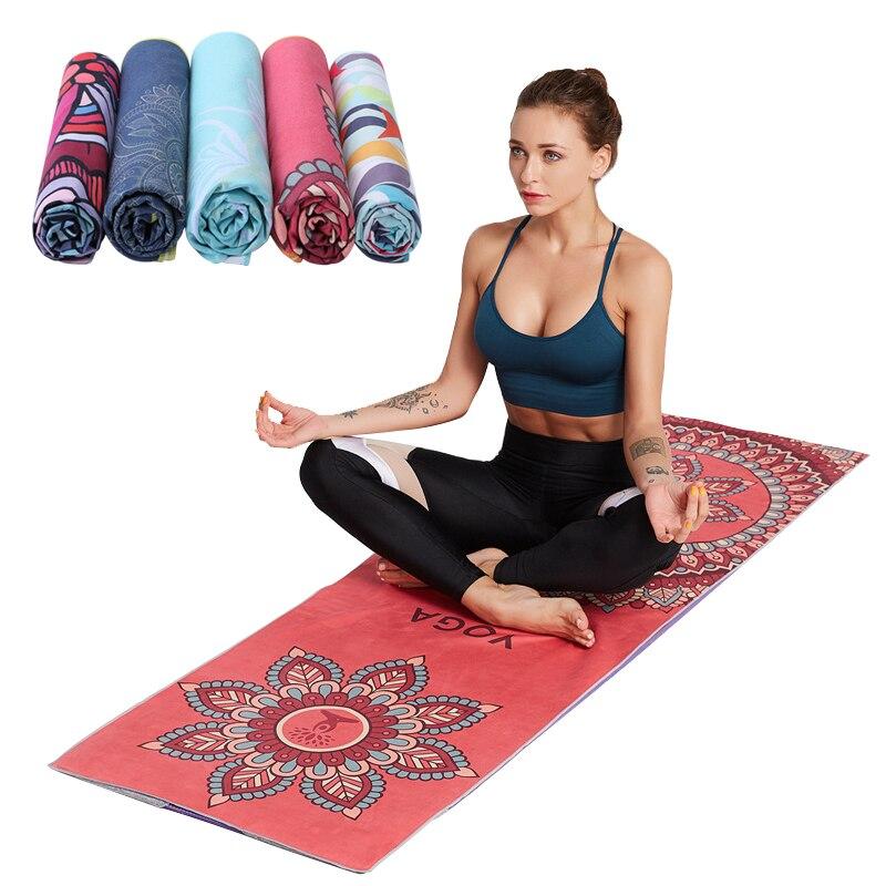 Hot Yoga Mat Blankets 185 63cm Printed
