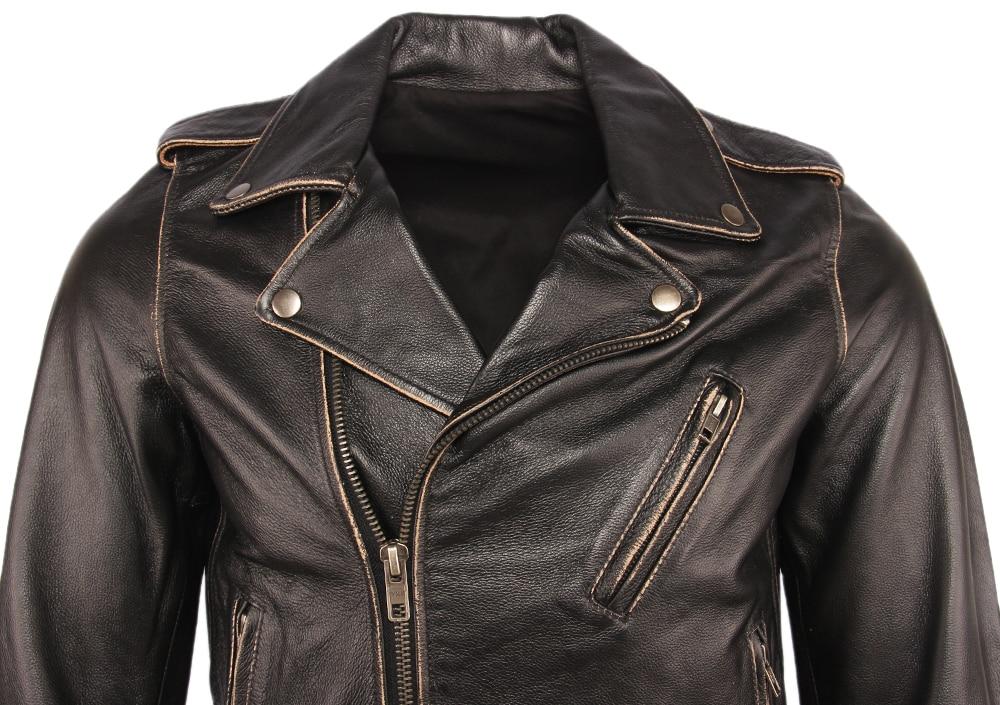 Hfc46e80ab68d420a8e8510f29669bc1bk Vintage Motorcycle Jacket Men Leather Jackets Thick 100% Cowhide Genuine Leather Coat Winter Biker Jacket Moto Clothing M456