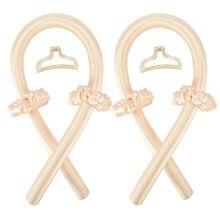 2 conjunto heatless curling rod bandana cachos fita de seda preguiçoso curler rolos de cabelo dormir macio onda formadores cabelo feminino estilo
