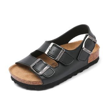 Nowe letnie dziecięce sandały plażowe dla chłopców korkowe sandały antypoślizgowe miękkie skórzane dziewczęce sportowe sandały dziecięce buty wyjściowy modny tanie i dobre opinie RUBBER 25-36m 4-6y 7-12y 12 + y 10 5cm 11cm 13 5cm 14cm 17 5cm 18cm 20 5cm 21cm 23 5cm 27cm CN (pochodzenie) CZTERY PORY ROKU