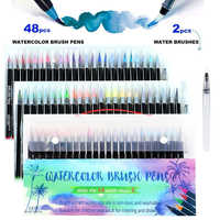 48 colores pincel de acuarela bolígrafos marcador de arte para dibujar libros para colorear Manga caligrafía suministros escolares papelería