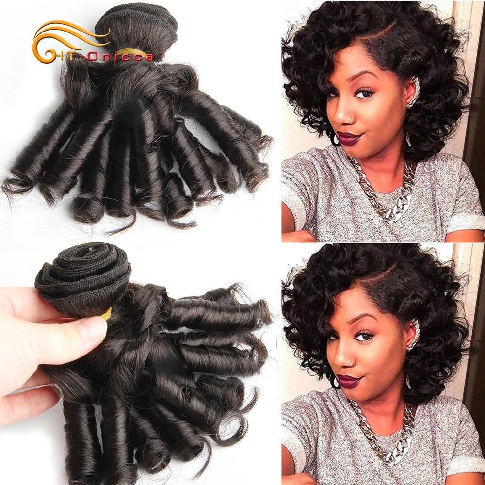 Cabelo encaracolado pacotes 6 pçs 100% cabelo encaracolado humano duplo desenhado cabelo humano cor natural remy extensões do cabelo