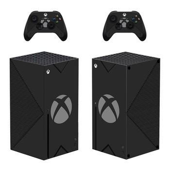 Black Symbol Skin Sticker Decal Cover for Xbox Series X Console and 2 Controllers Xbox Series X Skin Sticker Vinyl 1