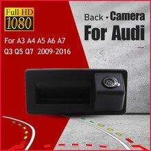Para audi a4 a5 q5 a3 q3 a6 a7 2009-2017 câmera de visão traseira do carro back up câmera reversa rca original fábrica tronco lidar com câmera