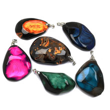 Christmas Charms Natural Stone Agates Pendant & Necklace Irregular Exquisite Pendants for Jewelry Making DIY Necklaces 40x60mm