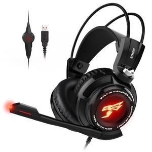 Image 4 - Somic g941 gamer fones de ouvido usb 7.1 surround virtual som gaming headset fones com microfone estéreo vibração graves para pc