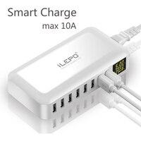 ILEPO 60W caricatore rapido USB a 8 porte QC3.0 HUB Smart Quick Charge Display a LED stazione di ricarica Multi USB telefono cellulare Desktop Home