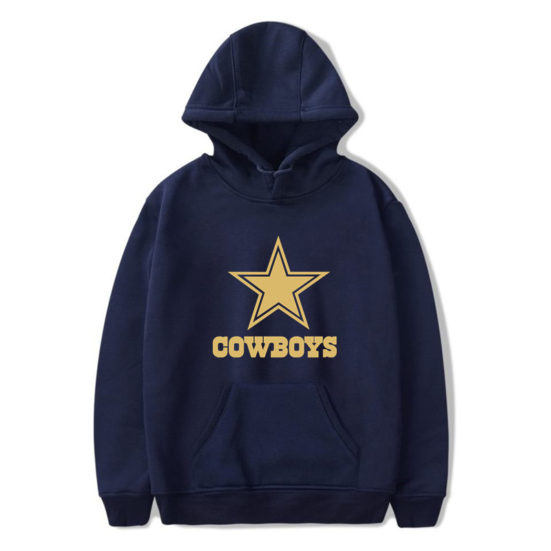 COWBOYS Hoodie New Fashion Lover Streetwear Dallas Gold Print Men/women Autumn Winter Casual Hoodies Sweatshirts Pullovers Tops