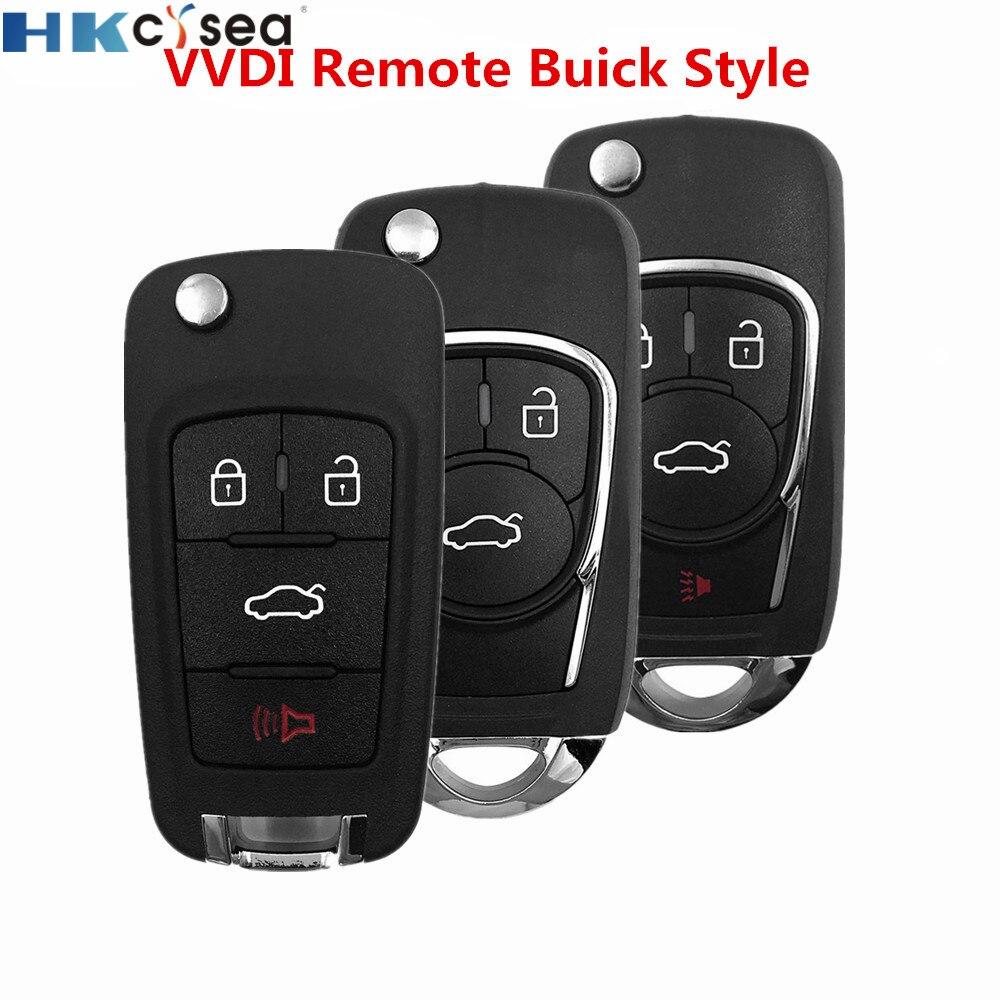 HKCYSEA 3 4 кнопки Xhorse VVDI2 проводной Автомобильный ключ дистанционного управления английская версия для Buick для VVDI Key Tool XKBU01EN XKBU02EN XKBU03EN