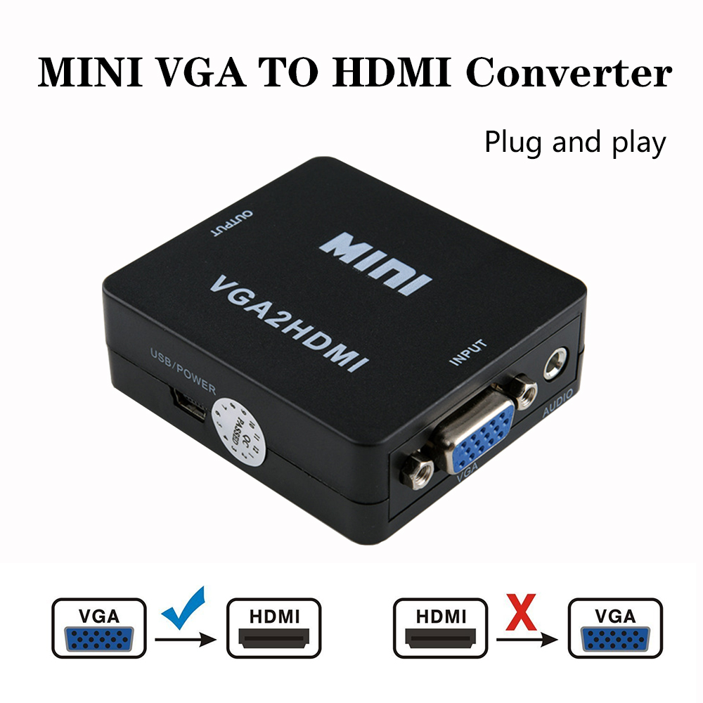 Projector Notebook Video-Box-Adapter Audio VGA2HDMI Vga-To-Hdmi-Converter MINI with  title=