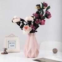 Origami Plastic Vase Milky White Imitation Ceramic Flower Pot Flower Basket Flower Vase Decoration Home Nordic Decoration|Vases|Home & Garden -
