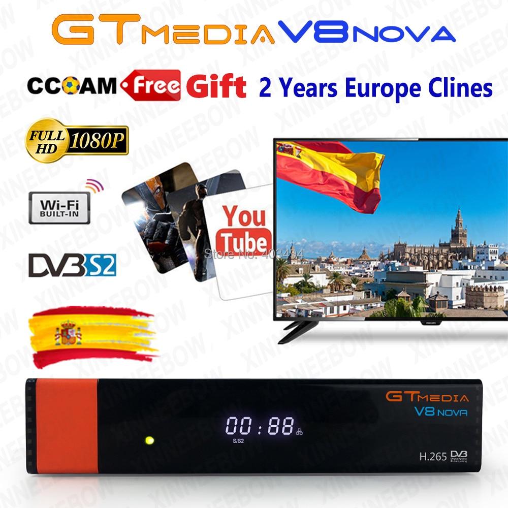 DVB S2 FTA Gtmedia V8 NOVA Satellite TV Receiver Built in wifi Freesat V8 Receiver with