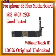 Разблокирована для iphone 6s plus 5,5 дюймов материнская плата без Touch ID, для iphone 6s plus материнская плата, 16 ГБ/64 Гб/128 ГБ