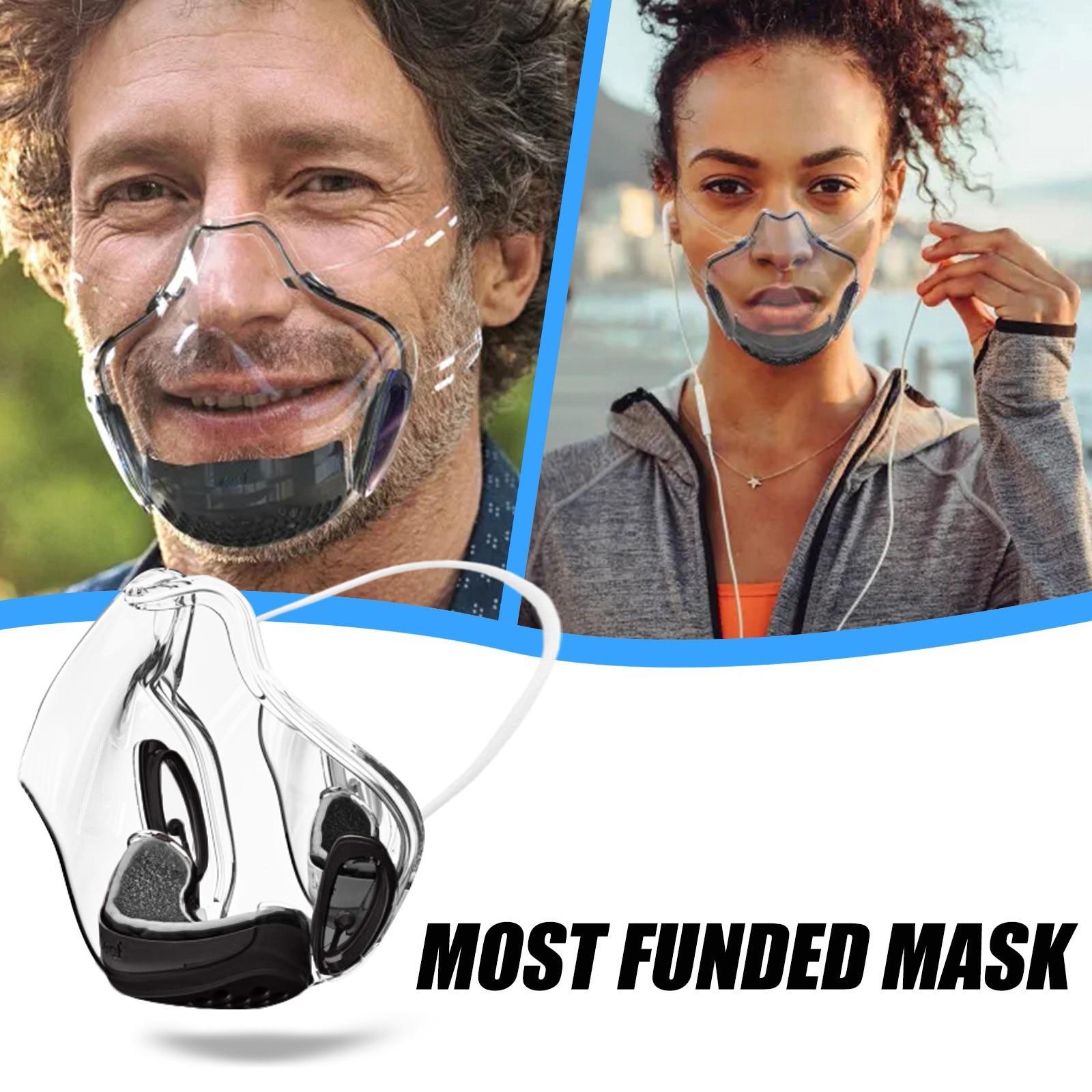 1pcs Face Mask For Adults A RADICAL ALTERNATIVES TRANSPARENT SHIELD AND RESPIRATOR Transparent Mask
