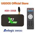 Популярная смарт тв-приставка UGOOS X3 PRO, Amlogic S905X3, Android 9,0, 2 гб, 4 гб, DDR4, 16 гб, 32 гб ROM, 2,4G 5G, wi-fi, 1000M, Bluetooth, 4K, медиаплеер