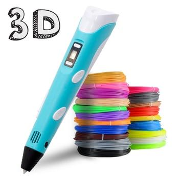 Bolígrafo 3D con impresión de PLA de 100M, Canetas de regalo de...