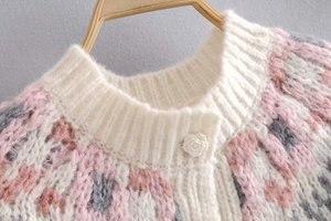 Image 4 - בציר שיק נשים עמוק V צוואר loose פרחוני מודפס boho סוודרים גבירותיי ארוך שרוול סרוג בוהמי קרדיגן סוודר