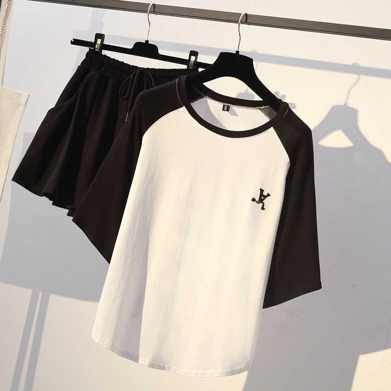 JSXDHK Sommer Frauen zwei stück set Casual Oansatz tops + shorts Röcke Elastische taille Kordelzug Taschen Dünne Anzug Set 2 stück Set