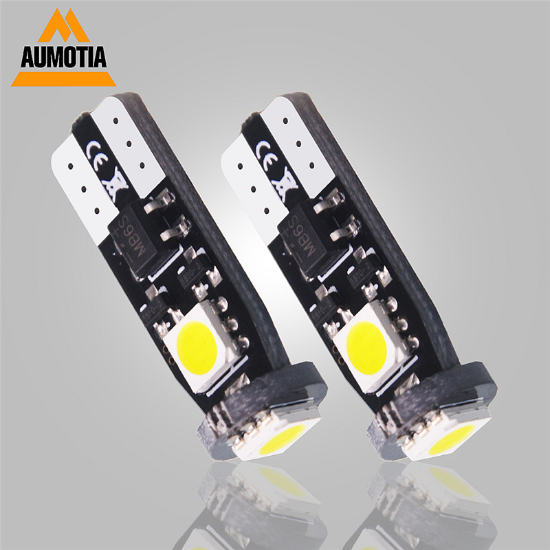 <font><b>100pcs</b></font> Car <font><b>T10</b></font> W5W 194 LED 5050 SMD 3 LED Auto Wedge Interior Light <font><b>Canbus</b></font> Map Trunk License Plate Lamp image