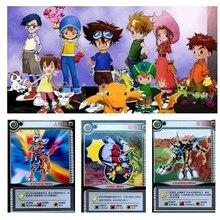 36 قطعة/الوحدة الكرتون جمع بطاقات Digimon مغامرة الرقمية Agumon الحرب Greymon عمل أرقام تطور تداول بطاقات لعبة طفل