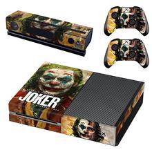 Pegatina de la piel del Joker para Xbox One, película de DC, cubierta completa para consola Xbox One, Kinect y 2 controladores para Xbox One, pegatina de piel