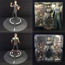 цена на Figuarts SHF Figure Iron Man Tony Stark with Tony's Powerd Stage PVC Marvel Legends Iron Man Action Figure Collection Model Toys