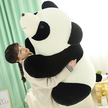 цена на New Huggable Kawaii Stuffed Panda Doll Plush Animal Toy Soft Panda Lifelike Plush Toys Baby Kids Playmate Children Birthday Gift