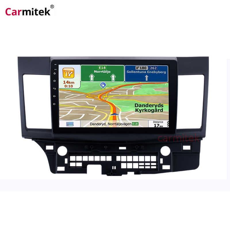 "10.1 ""Android 9.0 Mobil Radio Multimedia Player untuk Mitsubishi Lancer 2007-2012 Layar Wifi Bluetooth GPS Navigasi Kepala unit"