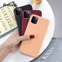 Etui na iPhone 11 Pro X XS Max XR SE 2020 etui na iPhone 7 8 6S 6 Plus etui cukierki kolor miękkiego silikonu obudowa telefonu na iPhone 11 tanie tanio Fintorp Aneks Skrzynki Matte Candy Color Case Coque for iPhone 7Plus 8Plus Cases Funda 5 5S Apple iphone ów Iphone 5S