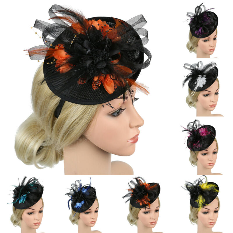 and Prom with for Women Fascinator Hats for Women Tea Party Cocktail Party Headdress Pillbox Hat Veil Hairpin Headdress for Parties Weddings