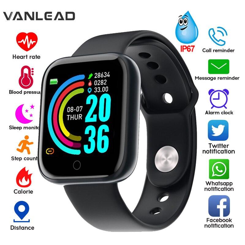 2020 nuevo reloj inteligente Y68 impermeable Bluetooth deporte reloj inteligente para hombres para IPhone Xiaomi Monitor de ritmo cardíaco para mujeres