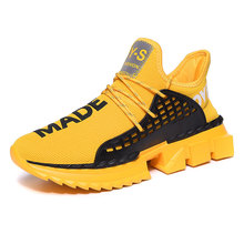 Fashion Popular Flying Woven Sock Shoes Men High Top Sneakers Damping Non-slip S
